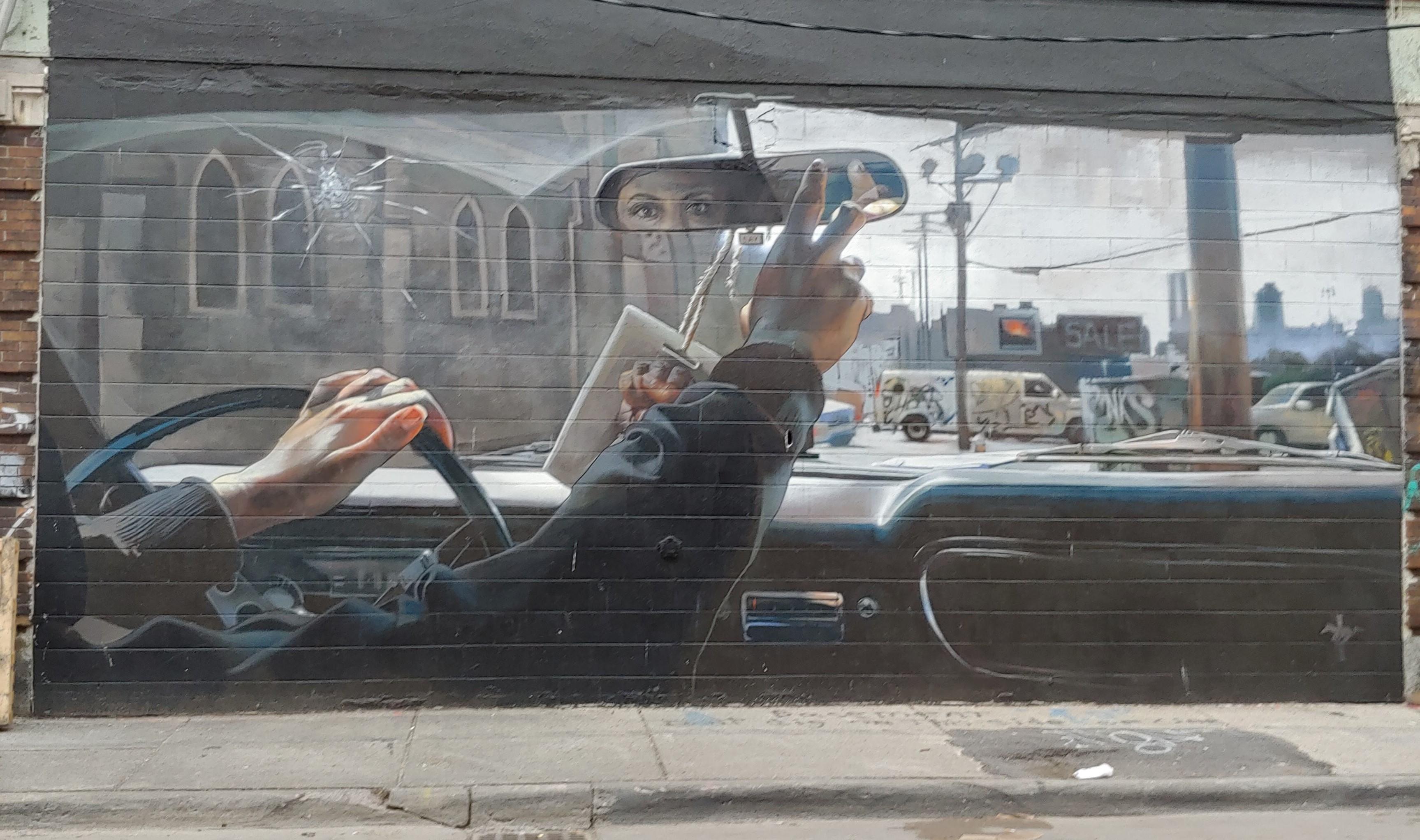 Detoit Street Art_Rearview Mirror